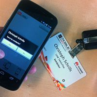 Android NFC app grabs contact details from MWC visitor badges