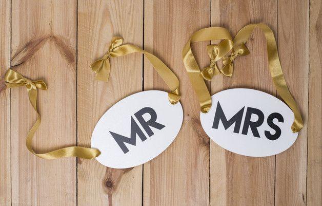MRS/MR Tabliczki do zdjęć - Sayido - Dekoracje ślubne