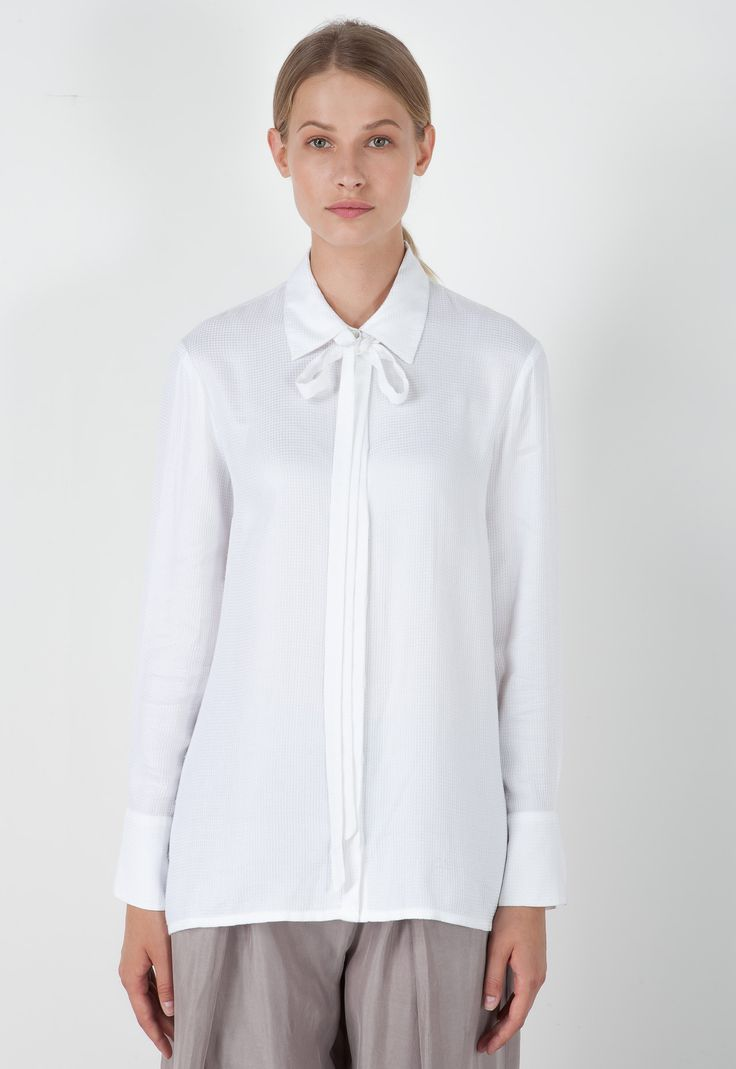 VISCOSE BLOUSE WITH BAND - Shirts - Top and Shirts | Stefanel