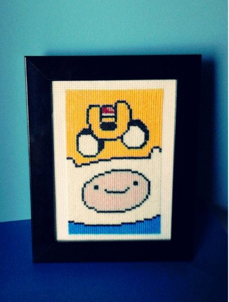 Adventure Time - Finn & Jake (finished product-framed)