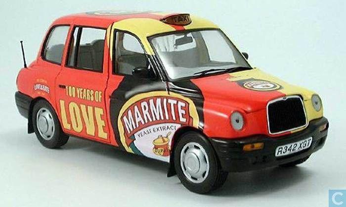 Model cars - Sun Star - LTI TX1 1998 London Taxi Marmite