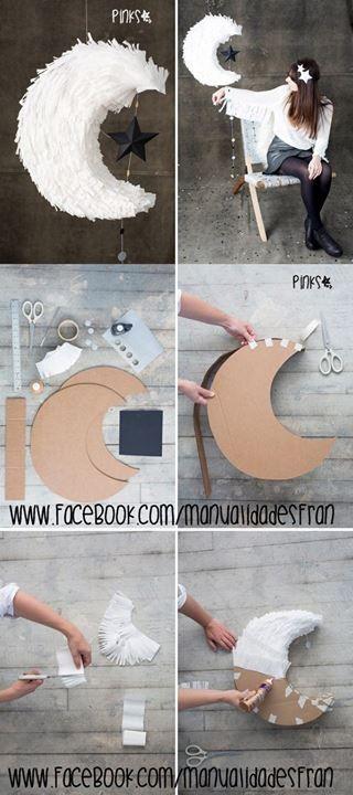 Piñata en forma de luna! - Manualidades Gratis