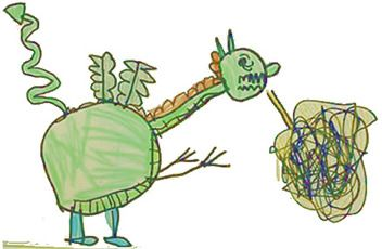 How to Trick a Dragon, class book based on The Paper Bag Princess by Robert Munsch.
