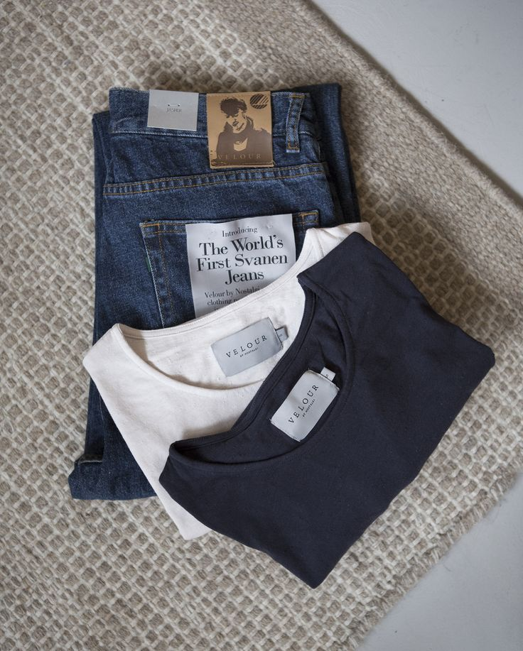 Organic cotton T-shirts and denims by Velour by Nostalgi.