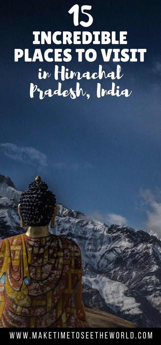 Your guide to Himachal Tourism featuring 15 Incredible Places to Visit in Himachal Pradesh, India's outdoor adventure playground! **** India | Himachal Pradesh | Things to do in Himachal Pradesh | Places to visit in Himachal Pradesh | Shimla | Kangra | Sangla | Kalka | Dalhousie | Khajjiar | Madi | Kullu | Manali | Kaza | Manikarn | Kasol | Dharamsala | Kufri #India #TravelinIndia #HimachalPradesh