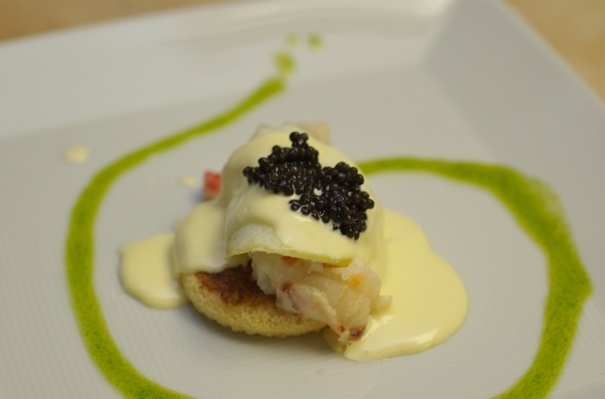 Lobster, quail egg, and caviar benedict | Benedicts of the World | Pi ...