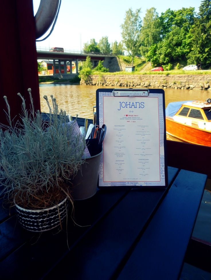 Enjoy great Finnish food while admiring the riverside view. Restaurant Johans makes this possible. www.visitporvoo.fi