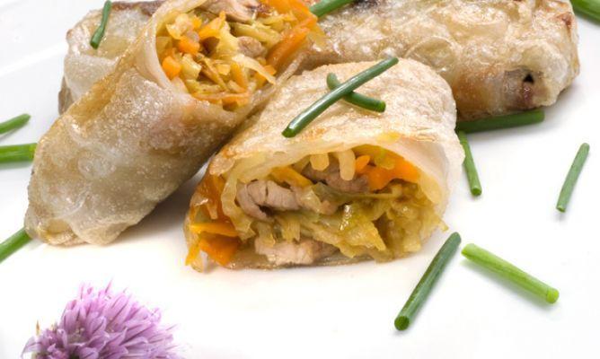 Receta de Rollitos de verdura, soja y ternera