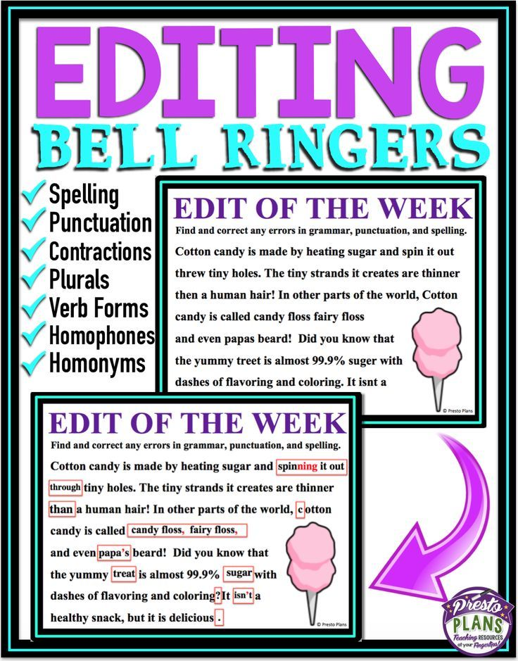 Editing exercises high school students