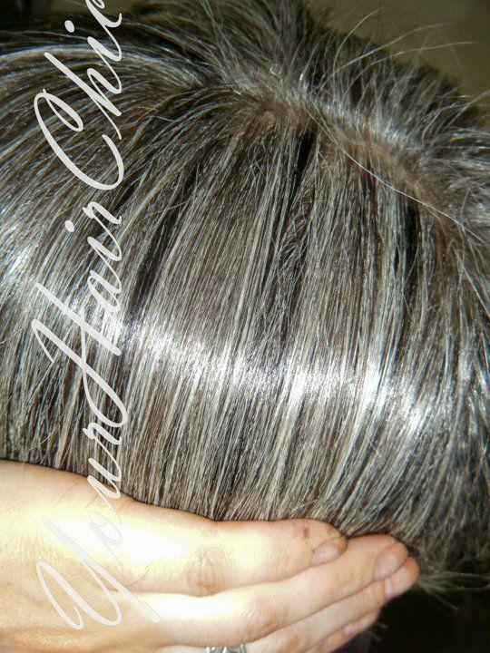 Blending the gray | Grey hair #silver hair | Pinterest