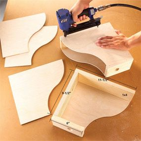 Make your own magazine organizers with scrap 1/4 and 3/4 ply