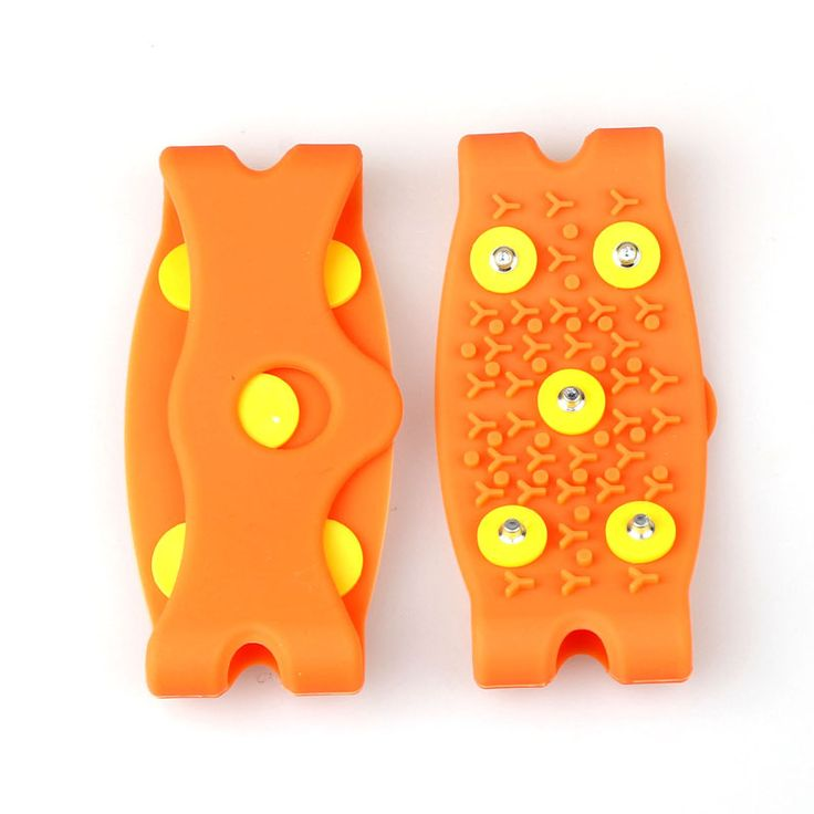 Over Shoe Studded Snow Grips Anti Slip Snow Anti Slip Ice Climbing Spikes Grips Crampon Cleats 5-Stud Shoes Cover  Silicone