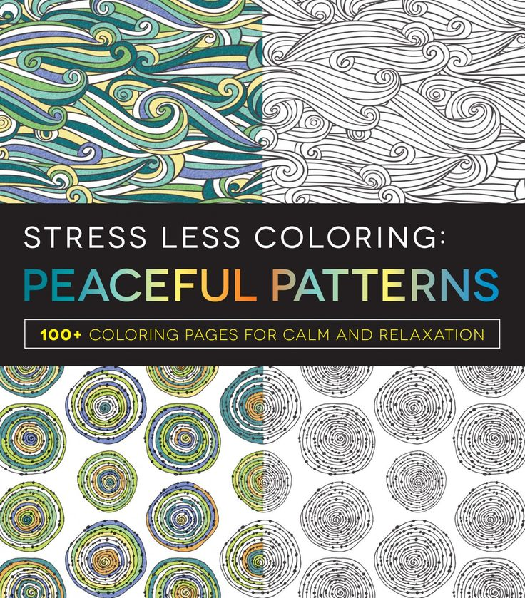 Stress Less Peace Patterns Adult Coloring Book With Soft Cover