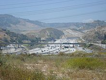 Interstate 5 in the Newhall Pass Interchange where I-5 intersects with Interstate 210 and State Route 14 near Santa Clarita