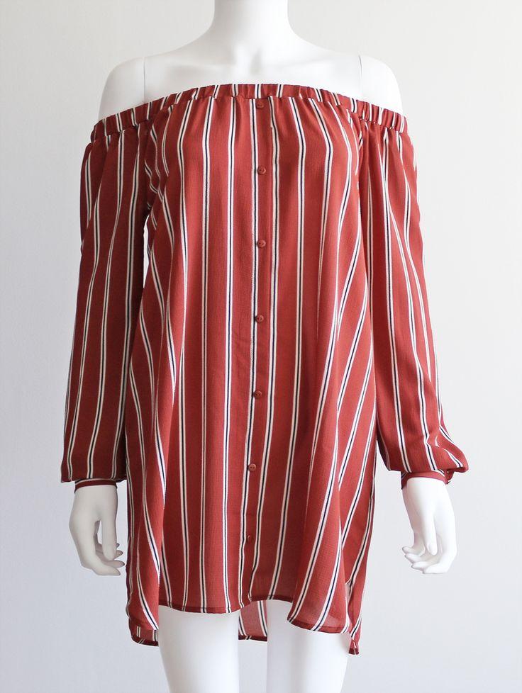 Tautmun - OGILI OFF SHOULDER DRESS - RUST, $28.99 (http://www.tautmun.com/ogili-off-shoulder-dress-rust/)