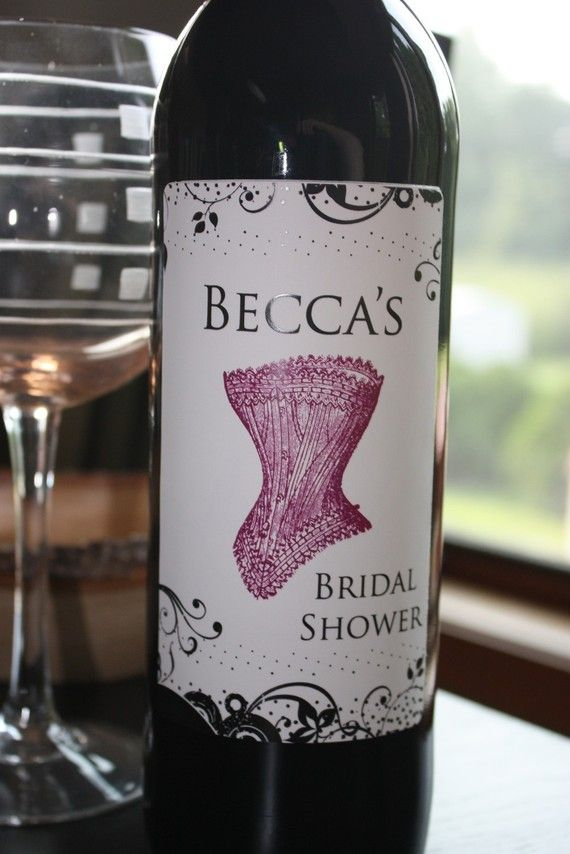 Cute wine label for a bridal shower