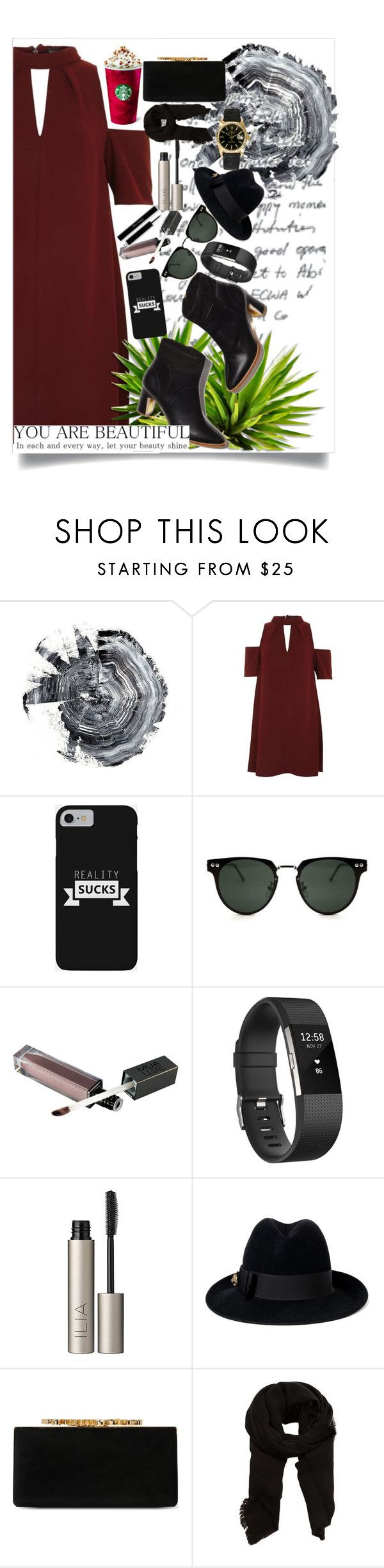 """""""You are beatiful"""" by marii-96-1 ❤ liked on Polyvore featuring Topshop, Spitfire, Fitbit, Ilia, Gucci, Jimmy Choo, MANGO and Rolex"""