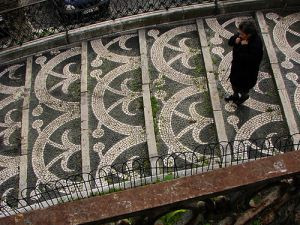 Decorative Sidewalk/Stairs in Portugal - photo from Tuga to the World