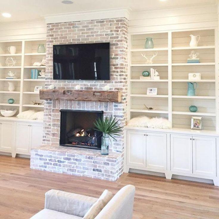 54 incredible diy brick fireplace makeover ideas brick fireplace bricks and living rooms - Incredible central fireplace ideas ...