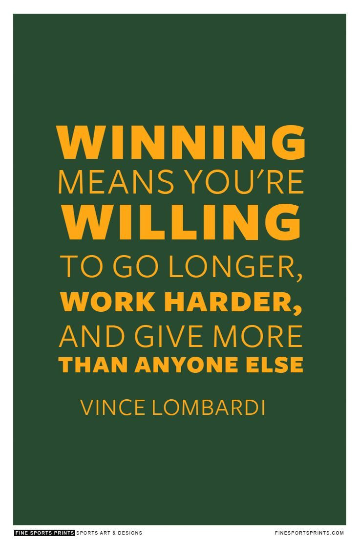 Great quote from Vince #lombardi #sportsquote #packers""