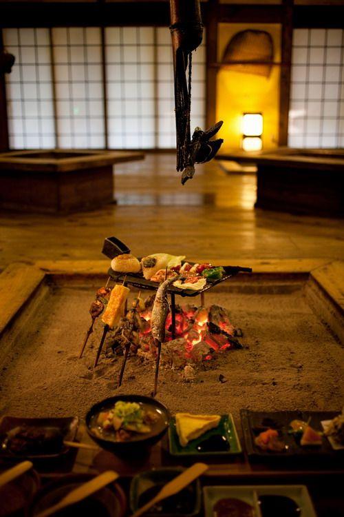 日本家屋、古民家、囲炉裏/Irori(Japanese Hearth)