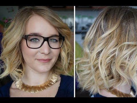 Tuto : Ondulations et volume pour les cheveux mi-long - YouTube