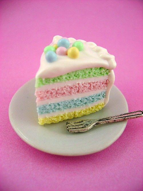 Easter-colored Cake