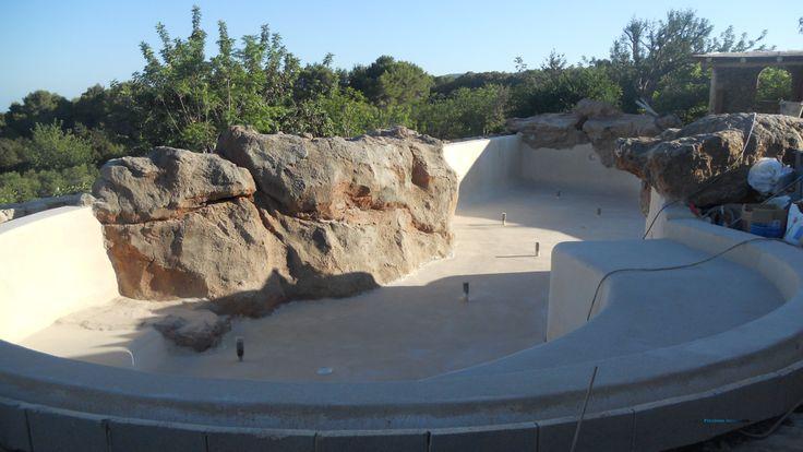 Perímetro Piscina de arena en construcción