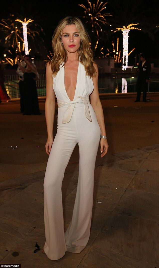 Gorgeous: Abbey Clancy was sure to send Dubai's already sizzling temperatures soaring when she hit the Le Royal Meridien New Year's Eve party on Thursday evening