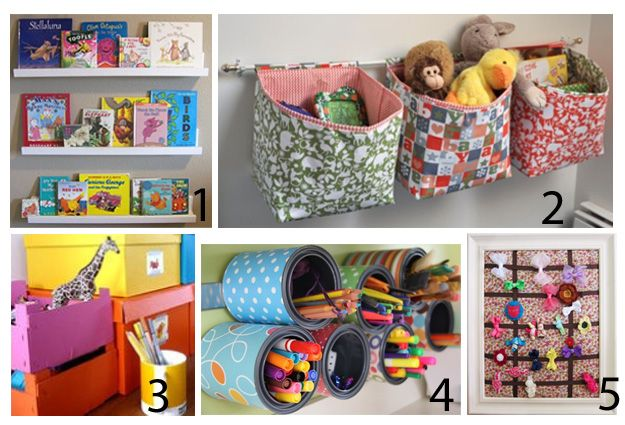 Kids diy projects felt pinterest curtain rods kid - Diy kids room organization ...
