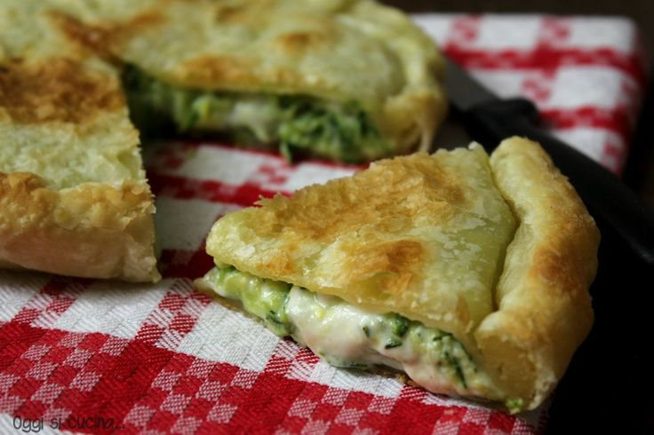 pie zucchini and soft cheese - torta salata di zucchine e stracchino