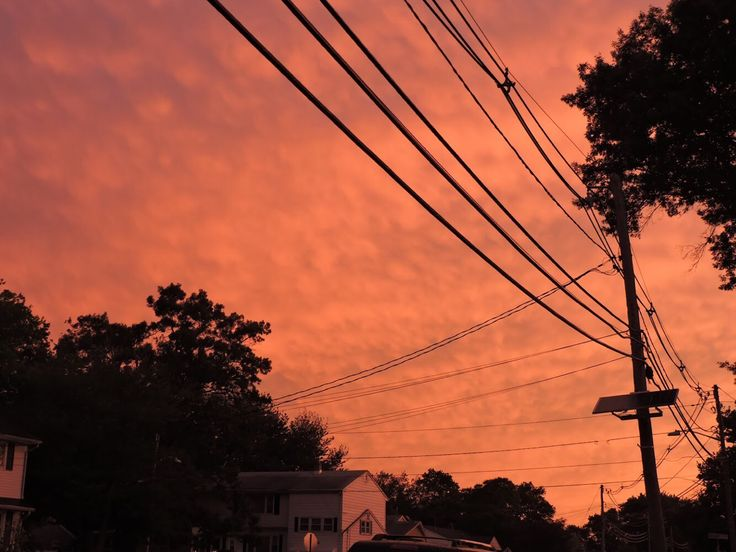post thunderstorm sunset - the world is on fire