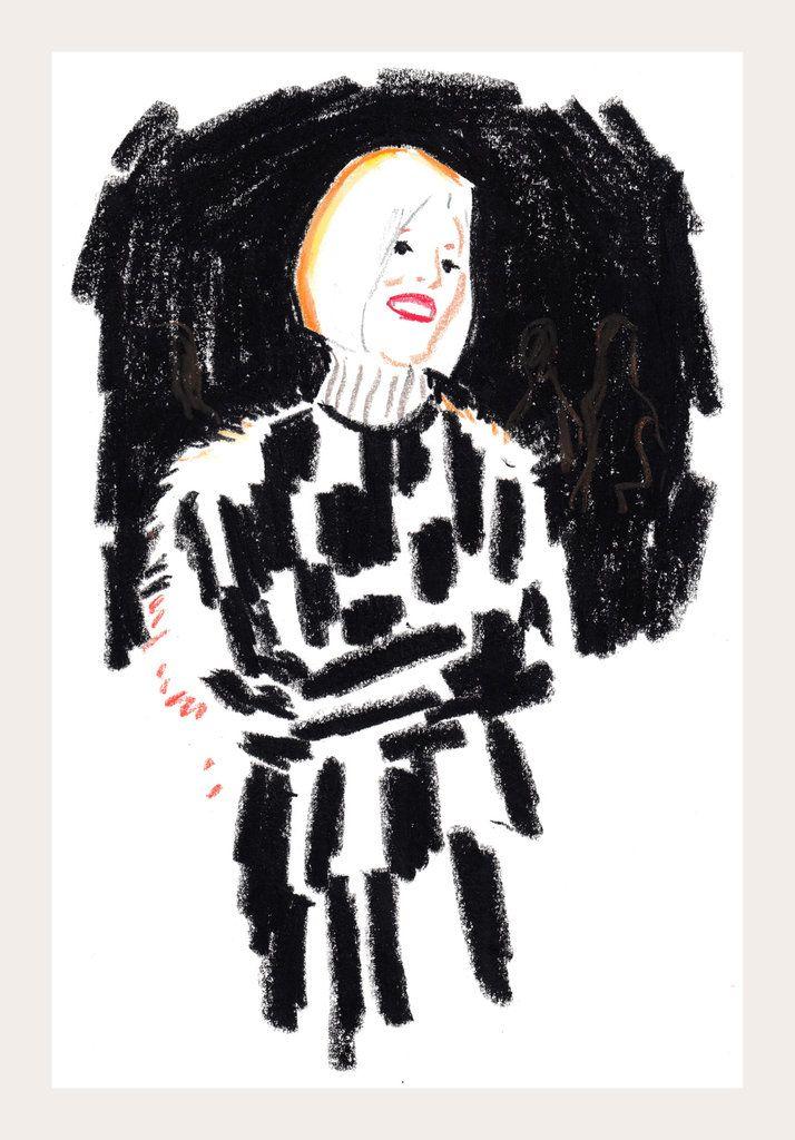 inspiring! ...and dream job :).......Snap Sketch | Justin Vivian Bond, Penny Arcade and the Faces of New York Fashion Week, Fall 2014