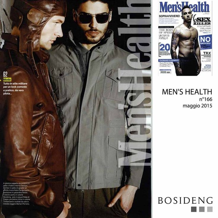 #Press // this month on Men's Health a beautiful #editorial with my #ss15 parka! #BosidengItaly #Enjoy