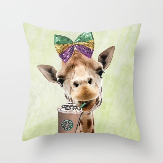 time for coffee  #starbucks #coffee #giraffee #cute #pillow #homedecor #decoration #adorable #drink #cafe #pillows