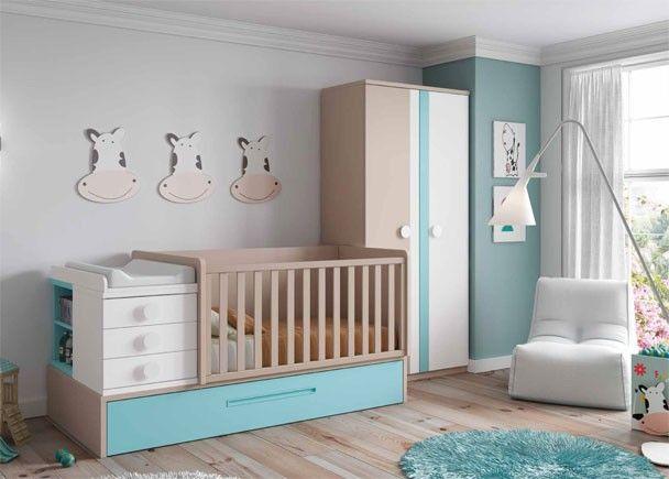 Las 25 mejores ideas sobre cuna convertible en pinterest y - Dormitorio para bebes ...