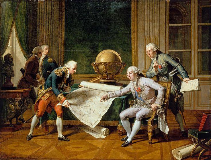 Louis XVI donnant ses instructions au capitaine de vaisseau La Pérouse.