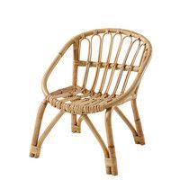 Sessel aus Rattan und Metall, weiß | Maisons du Monde