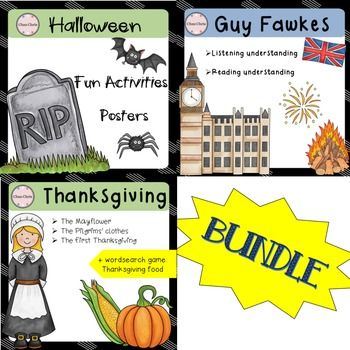 Get ready for this fall with a bundle combining the three important festivities…