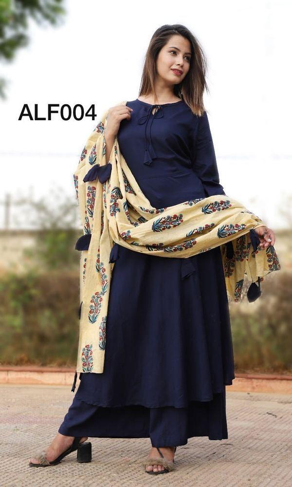 c916b29f11 Indian kurta dress With Pant & dupatta TopTunic Set blouse Combo Ethnic  Bottom
