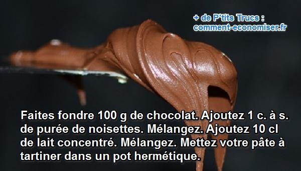 Meilleure pour la santé et beaucoup moins chère, voici la recette du Nutella fait maison ! Découvrez l'astuce ici : http://www.comment-economiser.fr/recette-nutella-facile.html?utm_content=bufferf3998&utm_medium=social&utm_source=pinterest.com&utm_campaign=buffer