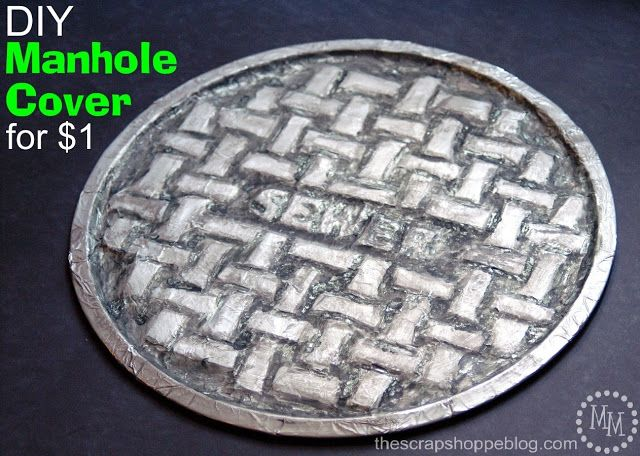 The Scrap Shoppe: DIY $1 Manhole Cover put individual names or birthday boy name in the center