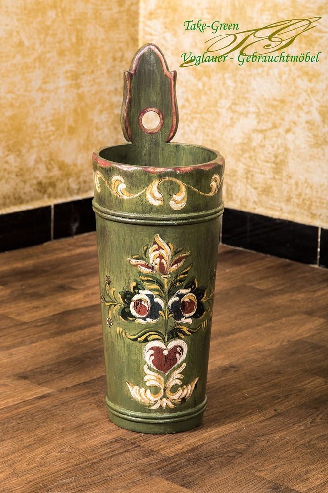 Details Zu Voglauer Anno 1700 Grün Landhaus Sechter Schirmständer Holz  Garderobe Flur Diele