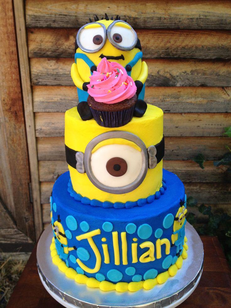 Best 25 minions birthday cakes ideas on pinterest minions birthday theme minion party games - Cake decorations minions ...