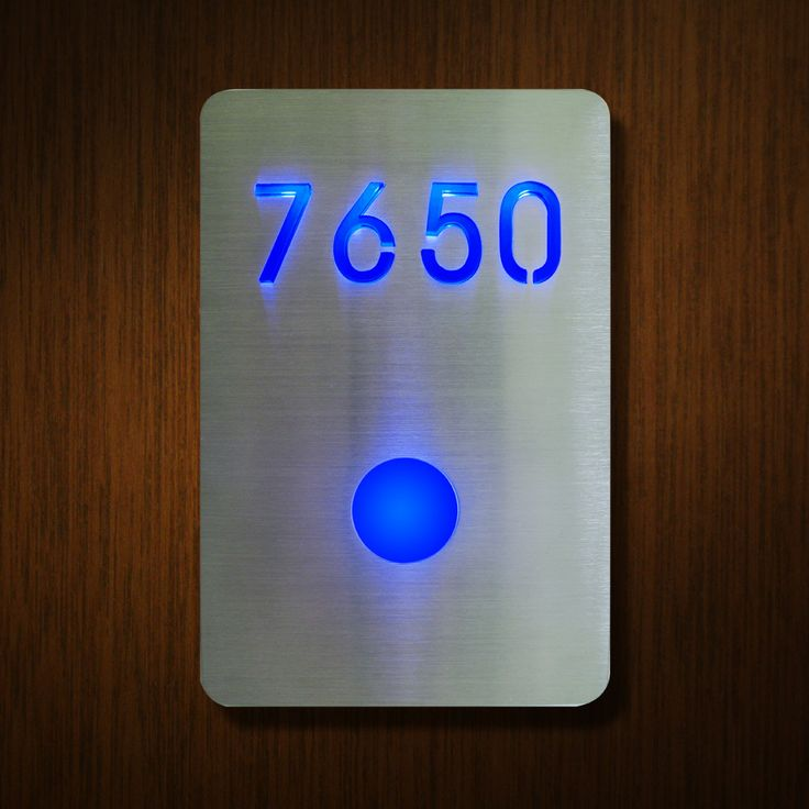 Room number number sign sign surrounding luxello led led room