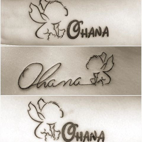 Ohana has always been important to me. That would be neat to get. Simple and yet powerful. – – #tattoo ideas