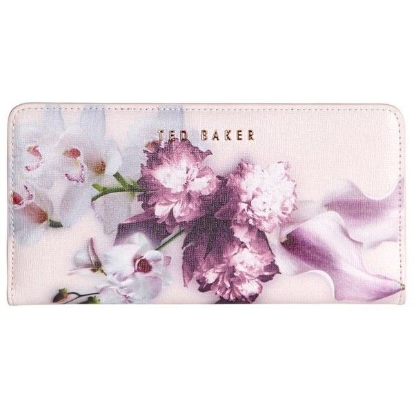 Ted Baker Ethereal Posie Matinee Wallet ($120) ❤ liked on Polyvore featuring bags, wallets, wallet, floral wallet, flap wallet, ted baker, leather flap bag and ted baker bag
