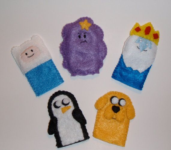 Adventure Time Felt Finger Puppets