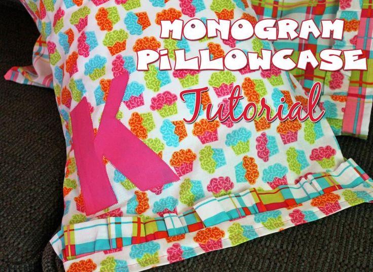 DIY home crafts DIY Monogrammed Pillowcase DIY home crafts & 249 best DIY PILLOWCASES images on Pinterest | Cushions ... pillowsntoast.com