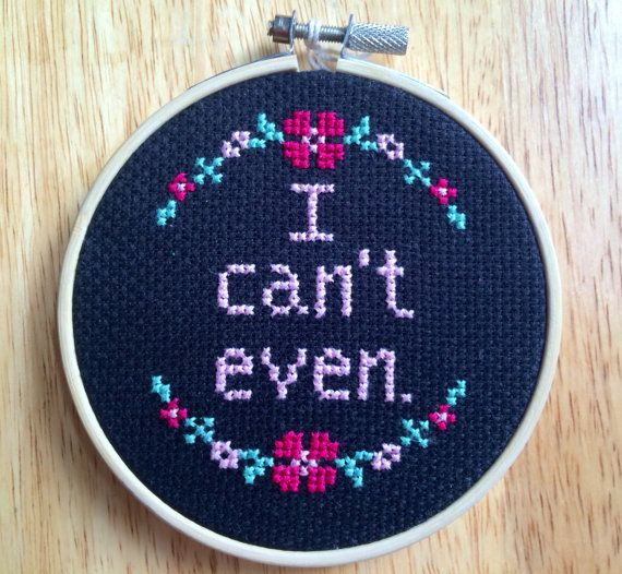 Try Not to Crack Up at These Cross-Stitch and Needlepoint Items - Funny Needlepoint Patterns